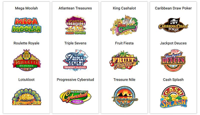Slots progressives en ligne sur les casinos