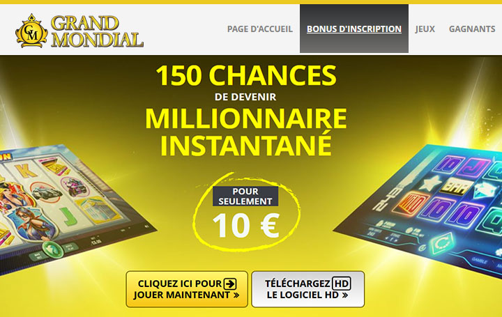 Grand Mondial - Gagnants au Casino
