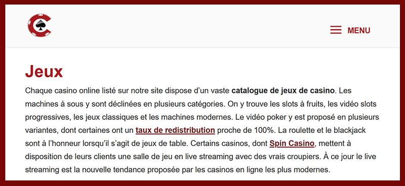 OCP guide - des casinos avec des slots avantageuses pour les joueurs
