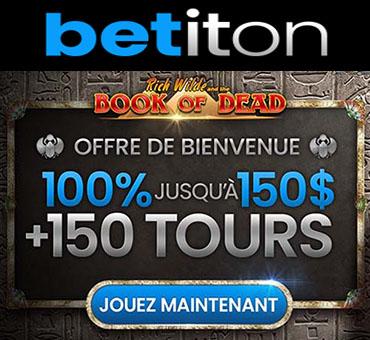 Betiton et 150 tours gratuits Book of Dead