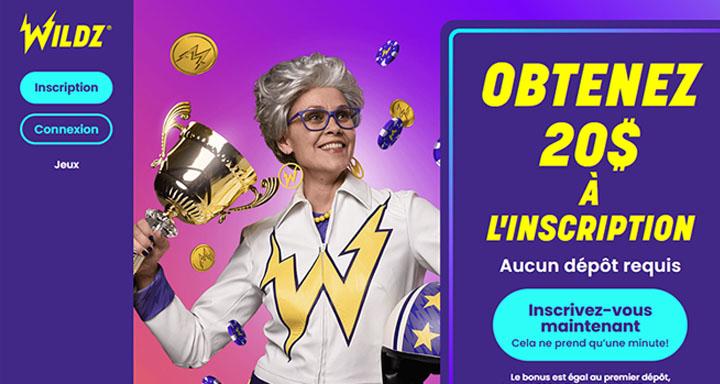 Avis sur le site Wildz casino en ligne