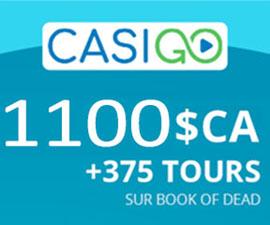 CasiGO 2021 tours et bonus