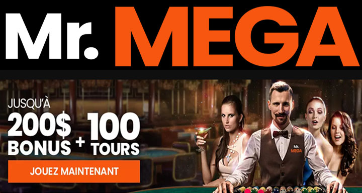 Mega Casino bonus et tours gratuits