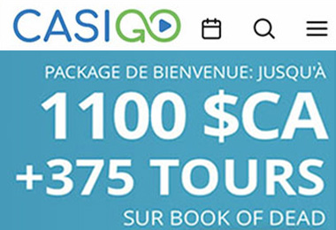 Tour gratuit sur CasiGO