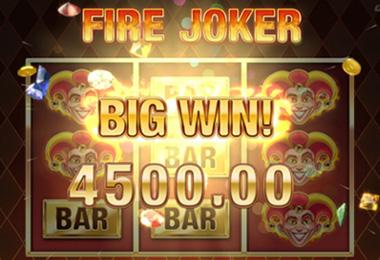 Gagnant sur la machine à sous Fire Joker