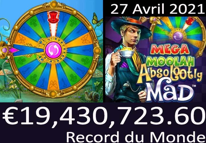 Mega Moolah gagnant du jackpot record