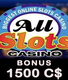 All Slots Casino bonus gratuit