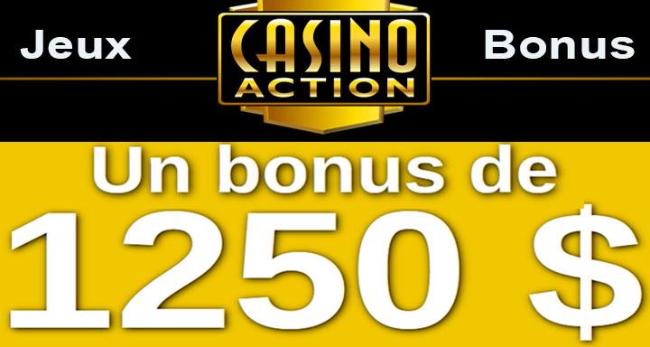 Casino Action 1250 bonus gratuits