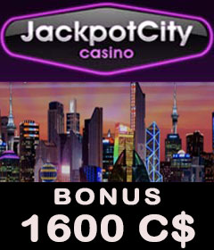 Jackpot City casino meilleur bonus