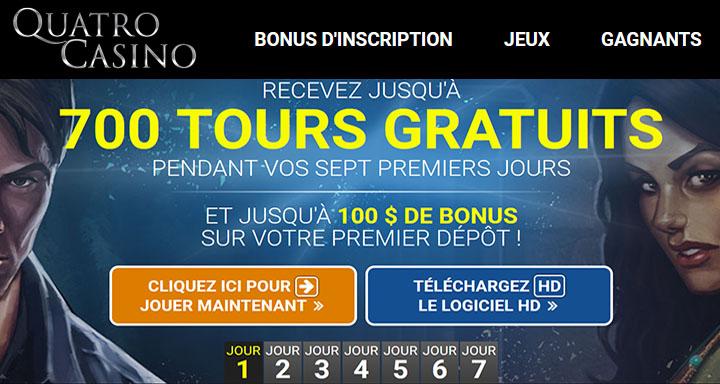 Quatro Casino 700 tours aux machines à sous