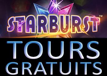 Starburst tours gratuits chez PlayFrank casino