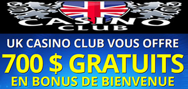 UK Casino Club bonus qui paye en argent réel