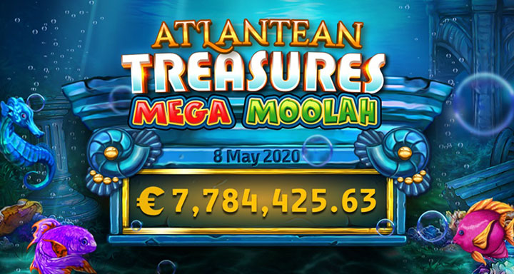 Machine à sous bonus Atlantean Treasures Mega Moolah