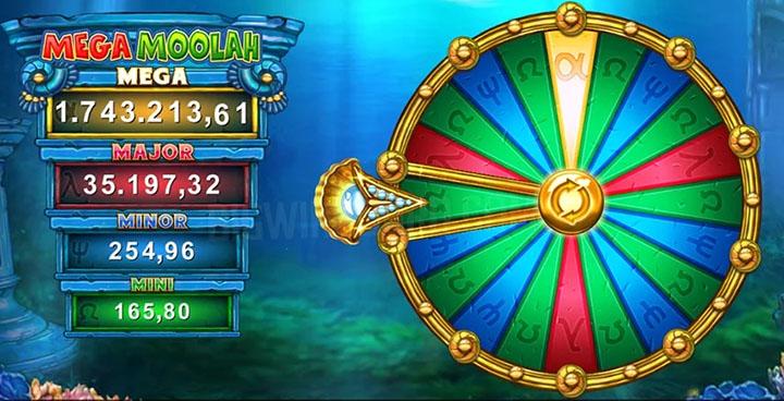 Roue bonus des jackpots Atlantean Treasures